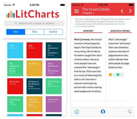 The LitCharts iPhone App