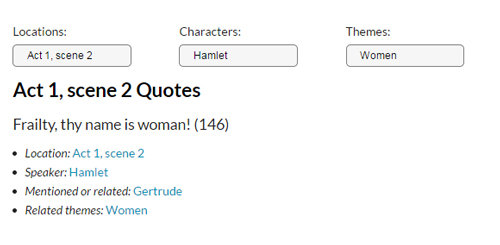 Sortable quotes in  LitCharts
