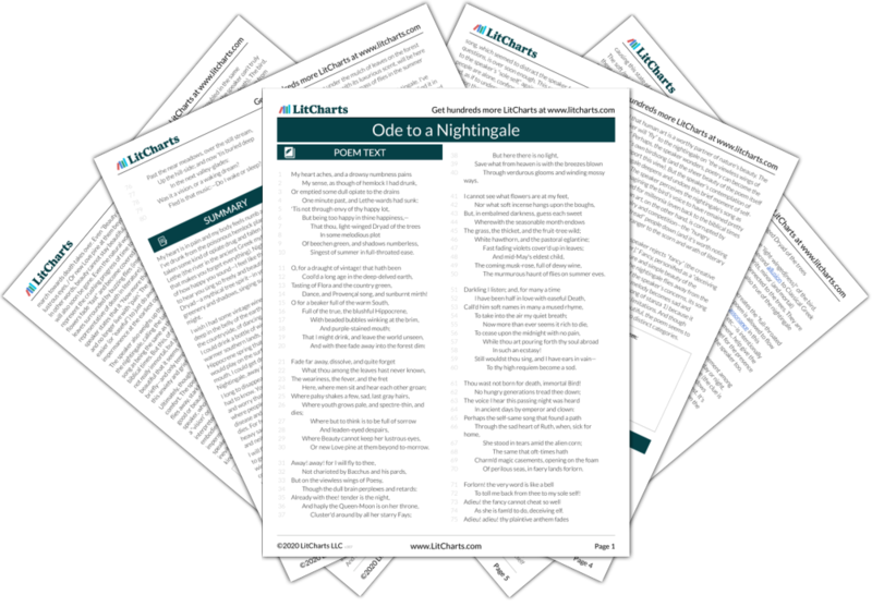 Ode To A Nightingale Poem Summary And Analysis Litcharts