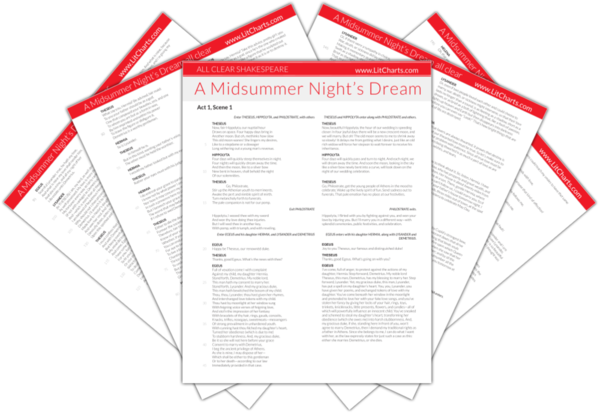 The LitCharts Shakespeare translation of A Midsummer Night's Dream