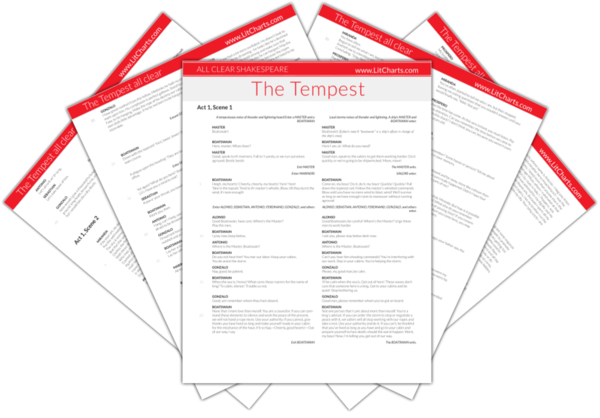 The LitCharts Shakespeare translation of The Tempest