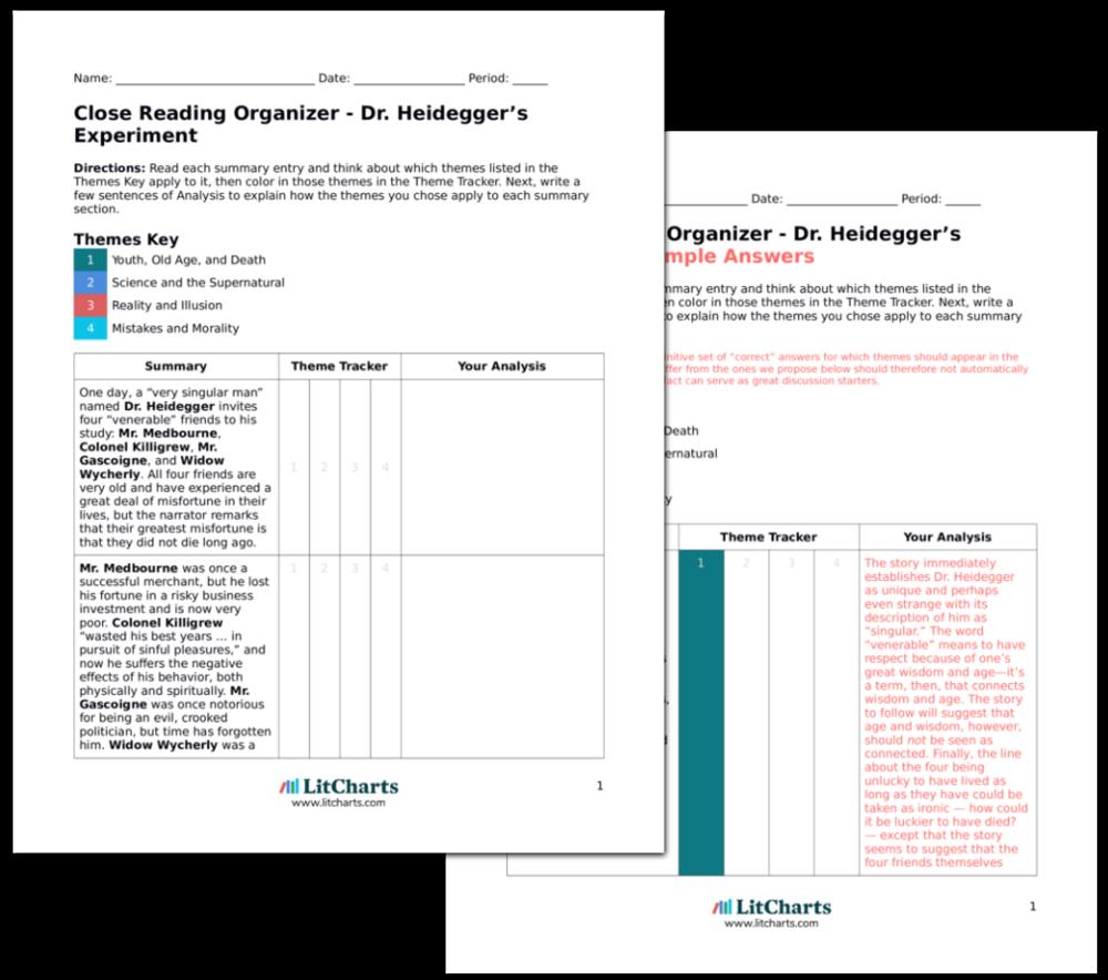 The Teacher Edition of the LitChart on Dr. Heidegger's Experiment